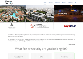 Security services website