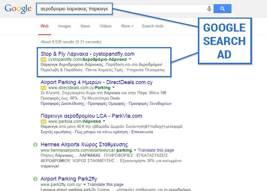 Google AdWords Search in Cyprus