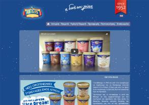 Regis Ice Cream website