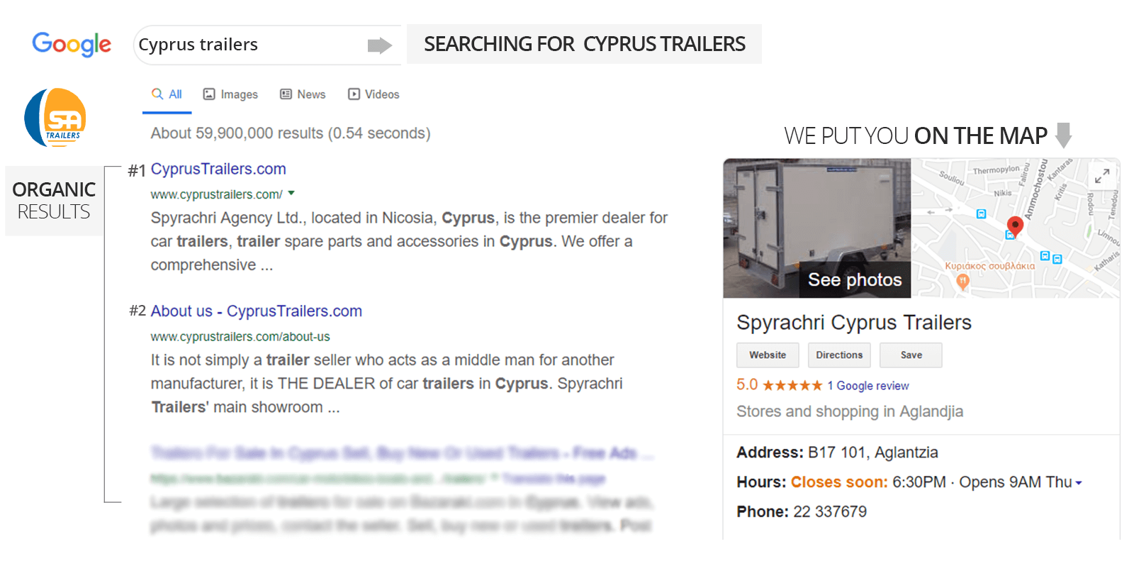 SEO for Cyprus Trailers